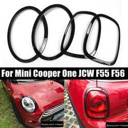 4Pcs Auto Scheinwerfer Kopf Schwanz Hinten Lampen Rim Trim Ring Abdeckungen Für Mini Cooper Eine JCW F55 F56 Auto -styling Zubehör