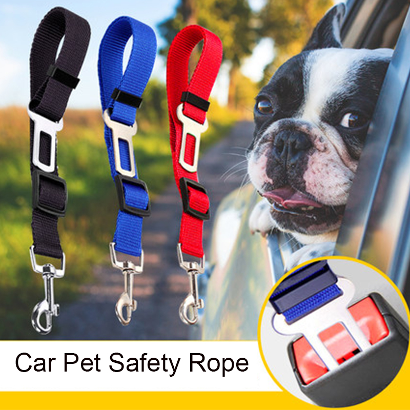 Pet Car Seat Belt Car Interior Accessories For Girls Ornament Pendant Dashboard Decoration Dog Cat Leash Safety Rope