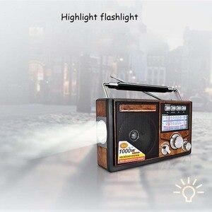 Image 5 - JINSERTA FM/AM/SW Retro radyo dünya bandı alıcı MP3 oynatıcı el feneri ile kayıt fonksiyonu destek TF kart U Disk oynatma