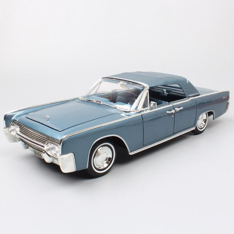 Classiques grandes échelles voiture 1:18 marques 1961 LINCOLN CONTINENTAL métal modèles voitures diecastes et jouets véhicules pour enfants collection