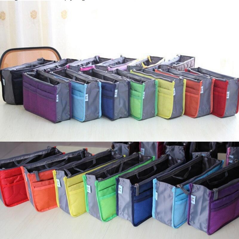 New Fashion Ladies Zipper Small Bag Women's Cosmetic Organizer Multi Functional Insert Purse Large Makeup Storage Travel Handbag