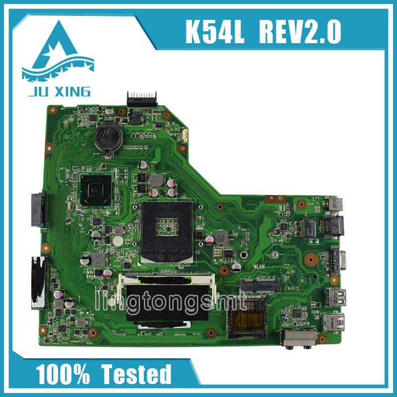 for ASUS X54H K54L REV 2.0 Notebook Motherboard PC Main board professional free shipping original notebook motherboard x54c k54c for asus rev 2 1 system pc mainboard with ram on board
