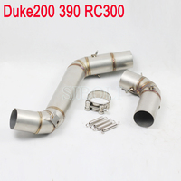 Duke 200 390 RC300 Motorcycle Exhaust Header Pipe Without Exhaust Muffler For KTM Duke 200 KTM390 KTM RC300 KT001