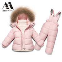 30 Winter Snowsuit Baby 90 Duck Down Romper Outdoor Infant Overcoat Clothes Girls Overall For