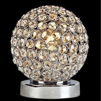 YOOK LED Tisch Lampe Kristall Tisch Lampe Schlafzimmer Für Studie Schmiedeeisen Tisch Lampe E27 110 V 220 V
