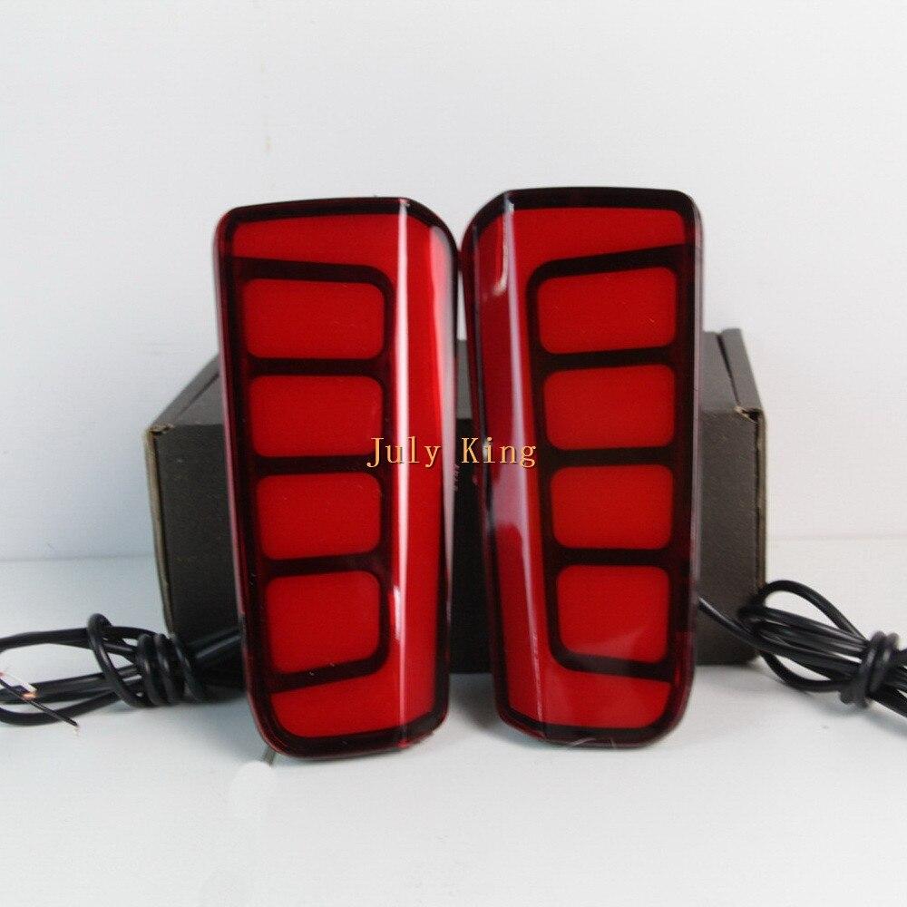 July King LED boîtier de feux de frein de pare-chocs arrière pour Toyota Vellfire 2016-20, feux de frein de guidage de lumière + feux d'avertissement de fonctionnement nocturne