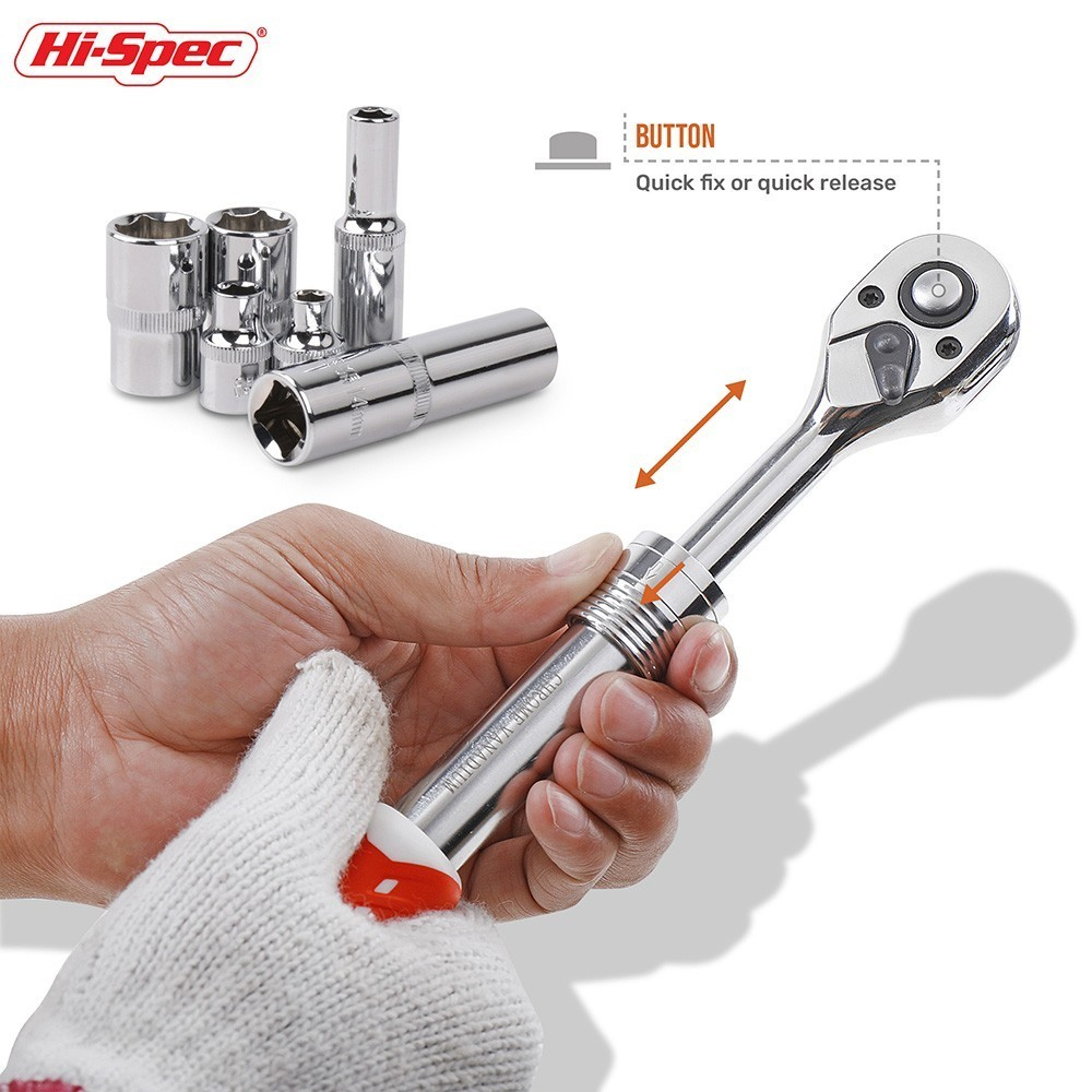 "1//4 3//8 1//2/"" Extending Telescopic Ratchet Socket Wrench Driver Quick Release UK"