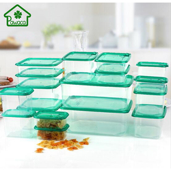 17Pcs/Set Multi Purpose PP Microwave Boxes Sealed Crisper Kitchen Refrigerator Storage Organizer Bento Lunch Box Food Container