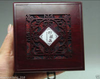 Retro Chinese Rosewood Wooden Earring Bracelet Necklace Jewelry Box