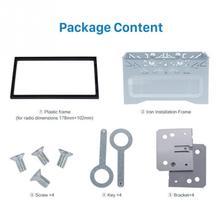 Блок 2 DIN клетка Радио Чехол для автомобиля dvd-плеер рамка Монтажная пластина железная рамка пластиковая панель с аппаратным аксессуаром