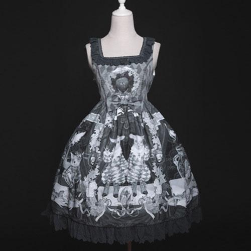 The Bizarrerie ~ Gothic Lolita Dress Vintage Short Dress By Diamond Honey