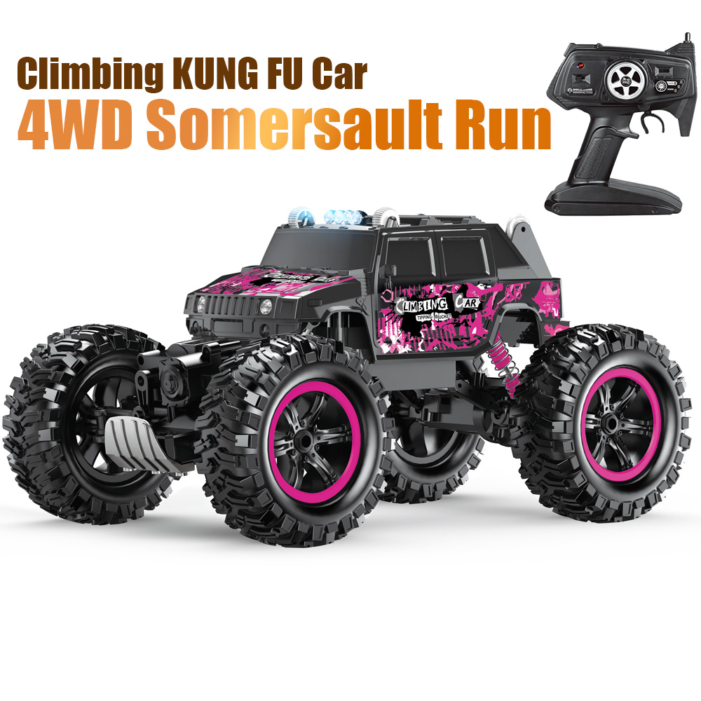 Tumama 4WD RC Car Racing Car Climbing Climbing Car 2.4G Remote Control Electric LED Car Off Road Drift High Speed Gift for Boy