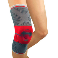 Free Shipping Breathable Elastic Sports Leg Knee Support Brace Wrap Protector Silica gel Knee Pads Sleeve Cap Patella Guard 1pcs