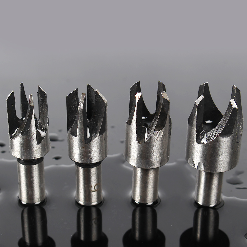 4pcs power tools pocket hole drill bits woodworking tools Plug Cutter Bit Drill Hole Tool furadeira drill perforator jelbo cone step drill hole tools countersink 3pc drill bit set power tools step drill bit for metal power tools set hole cutter