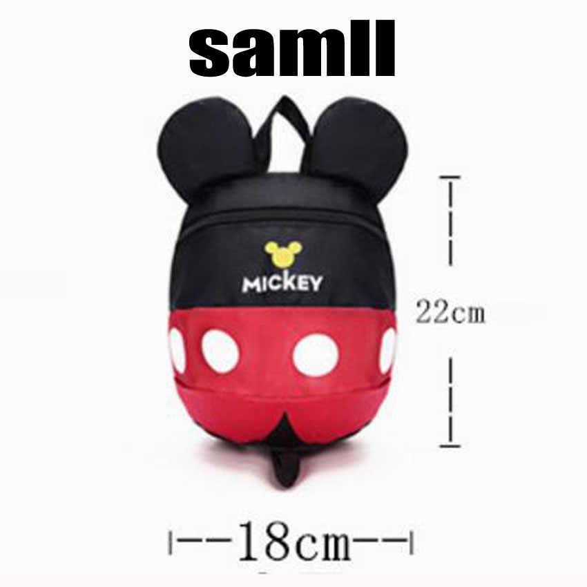 Saco de escola estilo bonito dos desenhos animados Minnie e Mickey cordão mochila crianças mochilas para meninas saco de jardim de infância