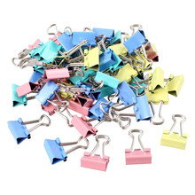 60 Pcs Metal Assorted Color File Paper Binder Clips