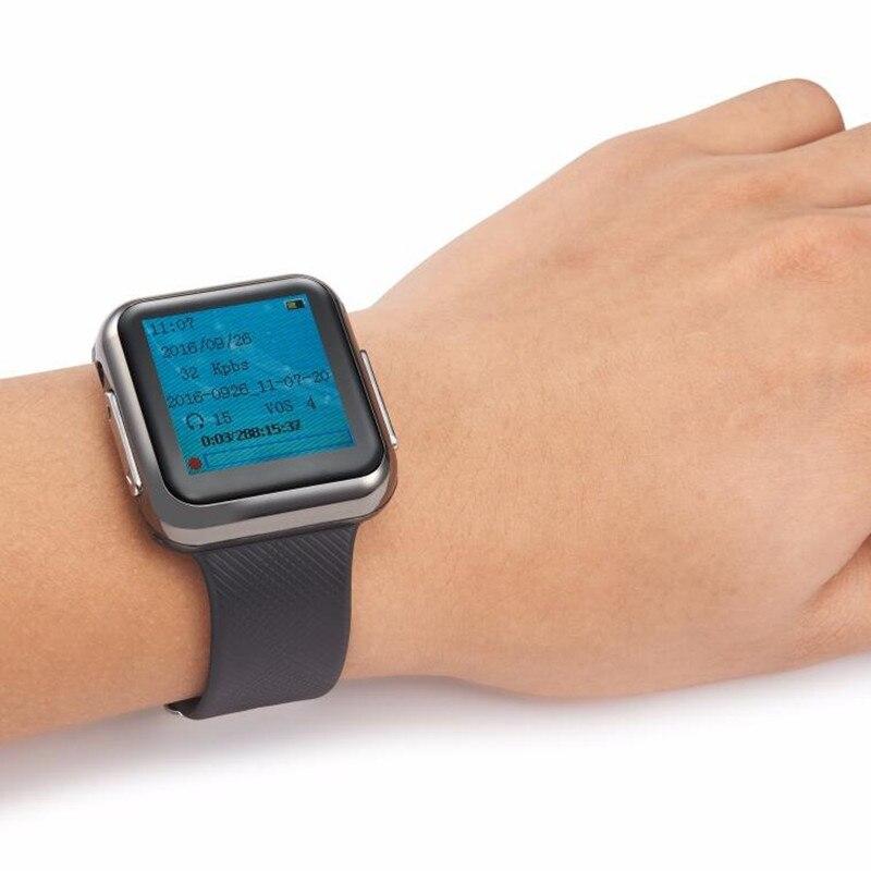 8 GB professionnel enregistreur vocal caché montre bracelet portable enregistreur vocal horloge numérique USB dispositif d'enregistrement stylo