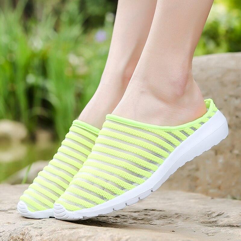 2018 Women Sandals Summer Shoes Half Slippers Flip Flops Mesh Breathable Shoes Sandals Clogs Shoes Woman Platform Big Size 35-40 1