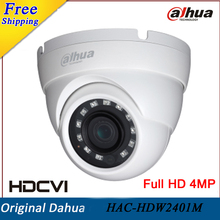Dahua 4Mp Security Camera HAC-HDW2401M HDCVI WDR IR Eyeball Camera HD and SD dual-output 3.6mm fixed lens Indoor/Outdoor IP67