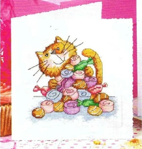 CS 352 Cross Stitch Christmas Card Greeting Birthday Thanksgiving