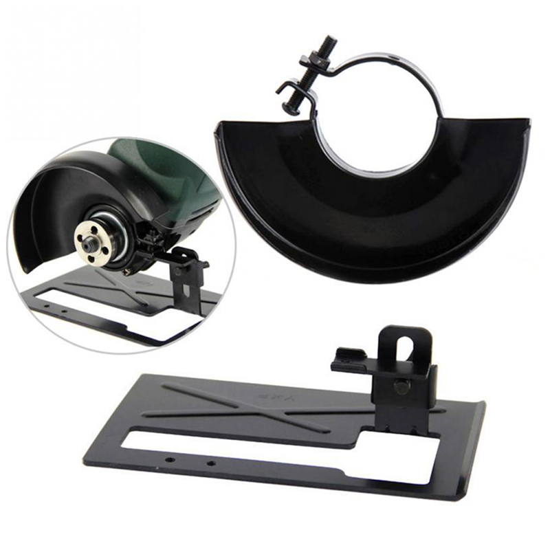 Black Cutting Machine Base Metal Wheel Guard Safety Protector Cover For Angle Grinder Grinding Machine Rack Tool Accessories P20