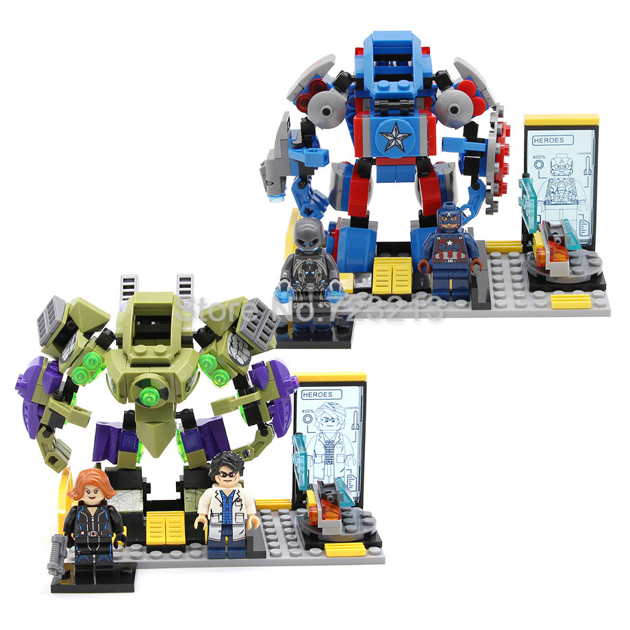 Marvel The Avengers Super Hero Figure Set Hulk Captain America Black Widow Ultron Building Blocks Sets Models Bricks Toys rome hulk marvel super hero avengers figure green hulk 7cm high the amazing action building block sets model bricks