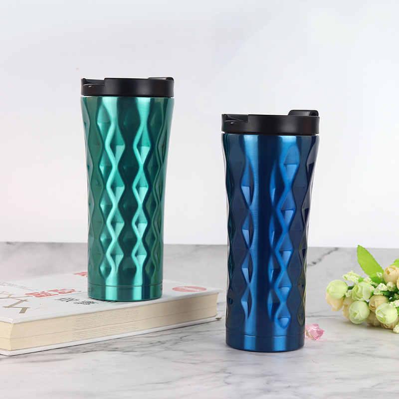 を無料カスタムホット販売コーヒーカップさん好きクリエイティブわら飲料水カップ 304 ステンレス鋼の真空フラスコ 500 ミリリットルオフィスのギフト
