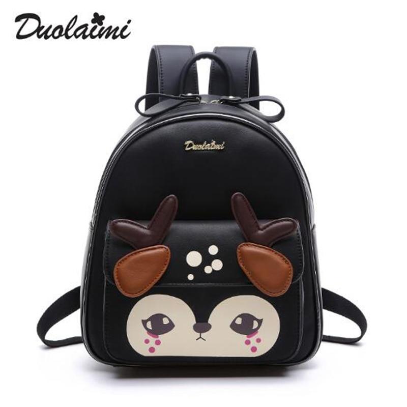 New Fashion Shoulder Bags Preppy Style School Bag Cute Girl Backpacks Fresh Deer Bags Ladies Casual