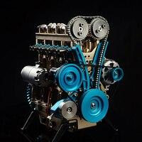 HowPlay четырехцилиндровый двигатель в сборе модель металлического двигателя изучение механического двигателя Souptoys подарок для взрослых Кол