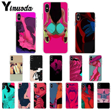 Yinuoda Sexy Hot Girl Summer Twerk It Swag Transparent Cell Phone Case for Apple iPhone X XS MAX  8 7 6 6S Plus 5 5S SE XR Cover