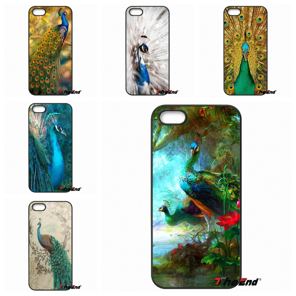 Pu leather case for samsung galaxy a7 2016 a710 peacock feather - Animal Peacock Art Painting Mobile Phone Case Cover For Iphone 4 4s 5 5c Se 6 6s 7 Plus Samung Galaxy J5 J3 J7 A5 A3 S7 S6 Edge