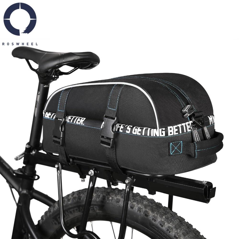 Cycle Saddle Rear Rack Bike Bag Mountain Road MTB Bicycle Bike Trunk Bag Black