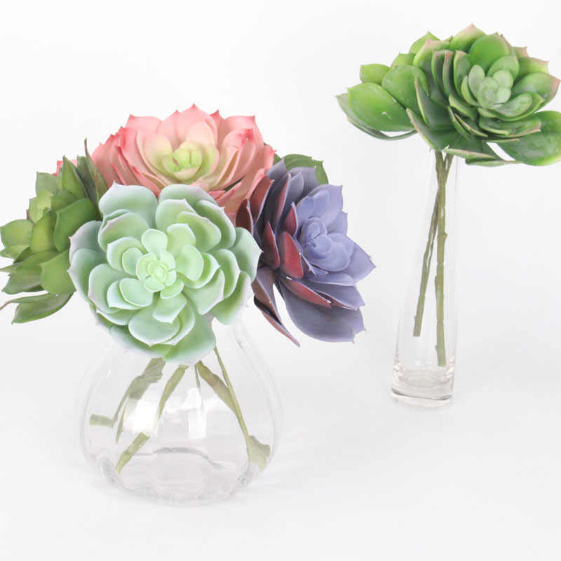 27 centimetri di grandi dimensioni da neve lotus di alta qualità fiore artificiale tropicale piante succulente soggiorno ufficio desktop di decorazione della casa del fiore