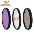 Knightx 49-77mm 52 uv cpl fld filtro de la lente para accesorios de la cámara nikon canon sony lente d3300 d5200 d5100 d3100 canon 1200d nd