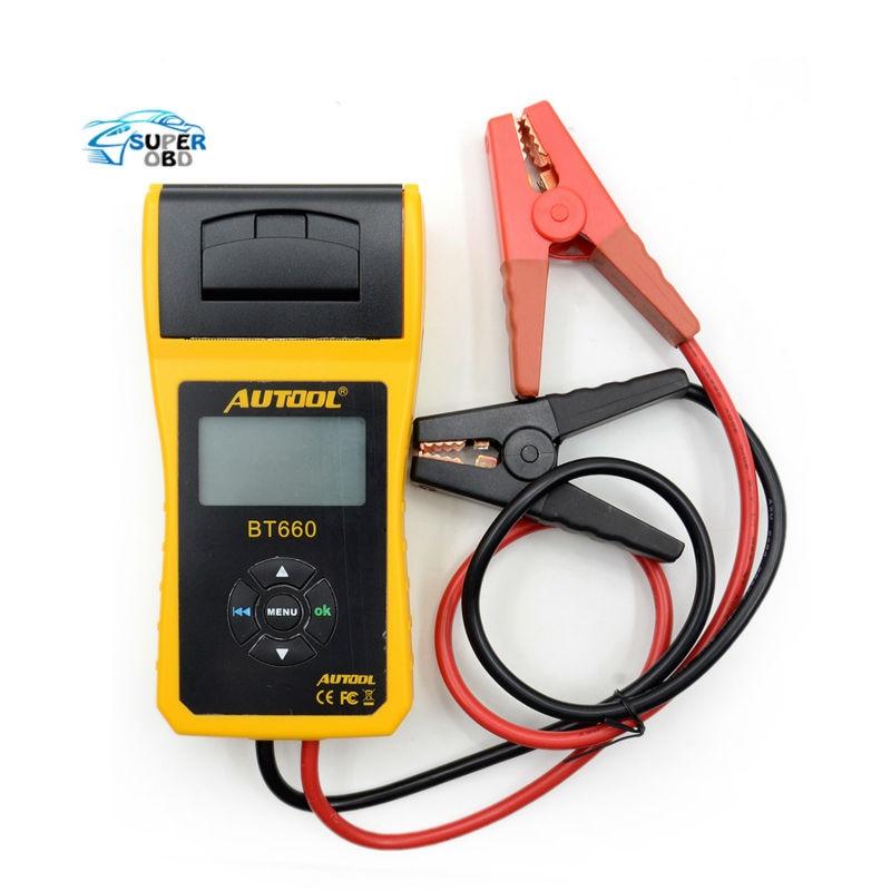 Prix pour Nouvelle Arrivée AUTOOL 12 V Testeur De Charge De Batterie De Voiture avec imprimante BT660/Multi-langue Numérique automobile testeur de batterie CCA100-3000