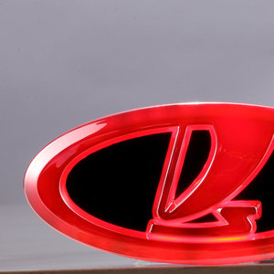 Image 3 - Car Styling 4D Cold Light LED Emblem Logo Light for Lada Granta Vesta Xray Largus VU 4X4 Niva Kalina Priora Car Accessories