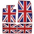 Bandeira britânica dedicada wateroof car floor mats antiderrapante almofadas pés de borracha látex tapetes para mini cooper countryman mini f56
