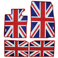 British flag dedicated wateroof car floor mats non slip latex rugs for mini cooper countryman rubber feet pads mini f56