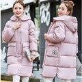 Новый 2016 женская Зимняя Куртка Женщины Пальто Зима Теплая Мода Кнопка Толщиной Посеяны Карманы Вниз тонкий ветровки женские пальто J12