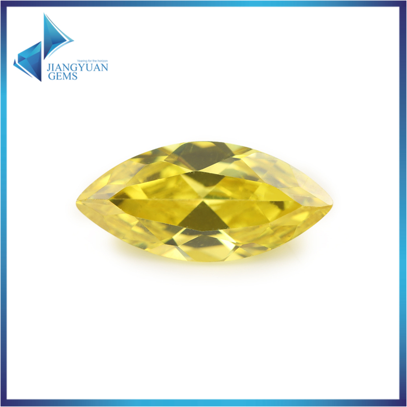 50Pcs Marquise Shape 5A Golden Yellow CZ Stone 1.5x3-10x20mm Synthetic Gems Cubic Zirconia Beads For Jewelry