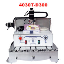 cnc drilling machine 3040T D 300W spindle 3 or 4axis mini cnc router(China)