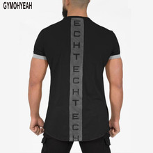 GYMOHYEAH NEW Mens Summer Workout Clothes Cotton Gyms T Shirts Mens T shirt Muscle Gyms Fitness