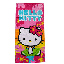 11f1445a0 Baby Girls Hello Kitty Bath Towel/Kids Cartoon KT Beach Towel/Children  Cotton Toalha