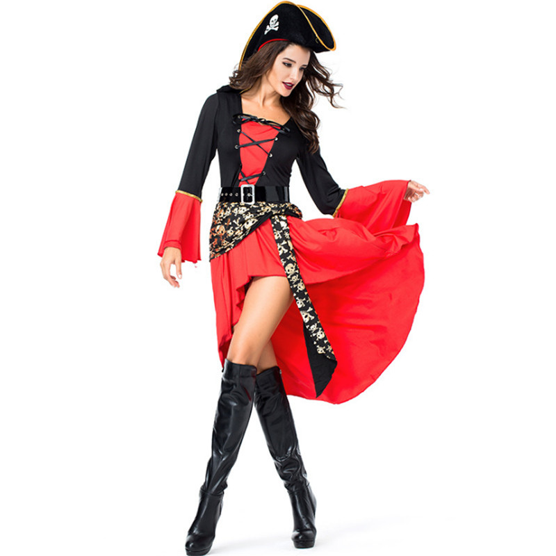 Sexy Costumes Halloween Costumes For Women Sexy Cosplay Pirate Costume 2017 Red Sexy Sm Cosplay Role-playing Games Uniforms Fancy Dress Outfit Fixing Prices According To Quality Of Products Costumes & Accessories