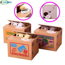 Coin Cat Coins Panda Thief Money Boxes Toy Piggy Bank Gift kids Safe Box Automatic Stole