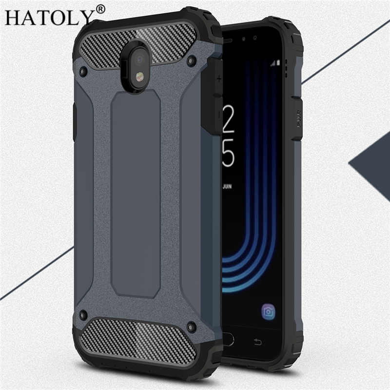 HATOLY For Coque Samsung Galaxy J7 2017 Case J730F/DS Heavy Armor Hard Cover Silicone Case for Samsung J7 Pro 2017 EU Version(China)