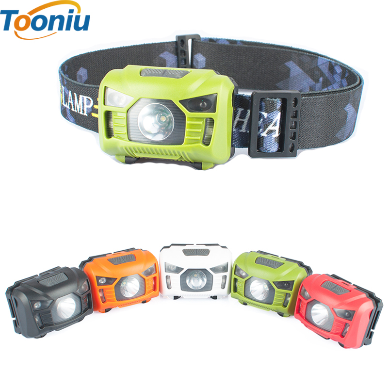 CREE 5W LED Body Motion Sensor Headlamp Mini Headlight Rechargeable Outdoor Camping Flashlight Head Torch Lamp With USB Charging