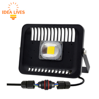 Led Floodlight 30W 50W 100W Waterproof IP 65 Flood Light Outdoor Lighting With 3pin Waterproof Connector