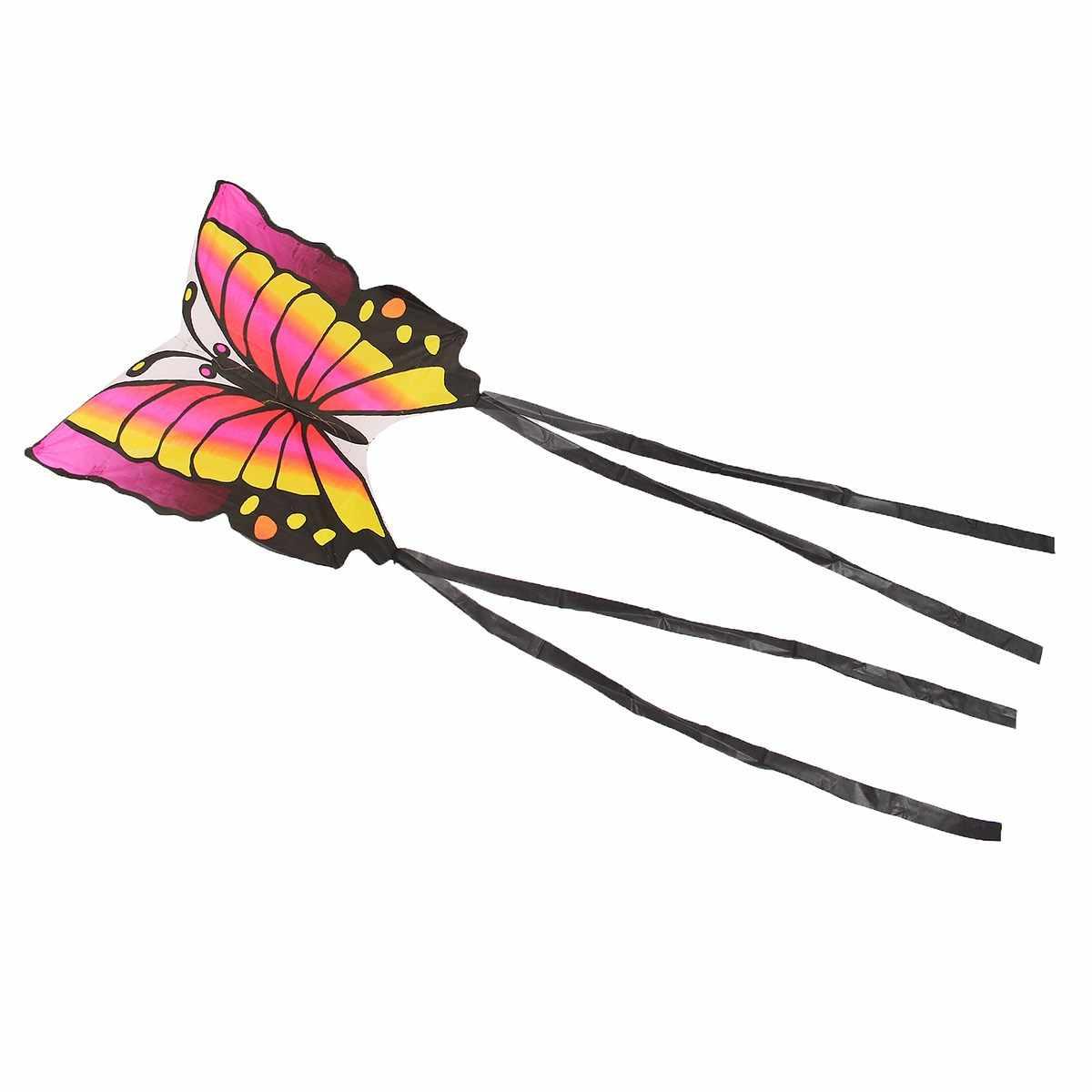 Детский летающий змей-бабочка Летающий воздушный змей с одним леером хвостом 1,5 м уличный Забавный спортивный подарок забавная спортивная игрушка для игр на открытом воздухе