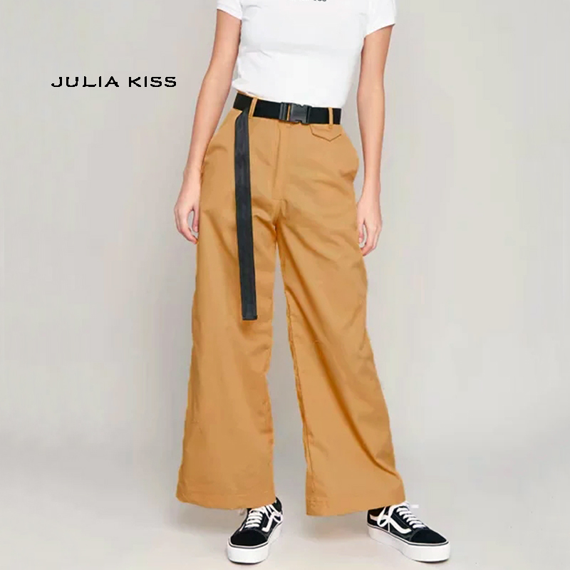 Women Wide Leg Pants with Chain Detail